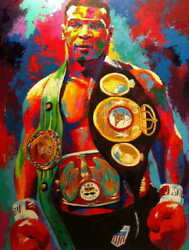 14213 Mike Tyson Champion Boxer Boxing Art Friends Gift Laminated Poster Ca