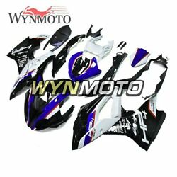 For Bmw 2017 2018 S1000rr Hp4 Gloss Black Blue Abs Injection Sportbike Fairings