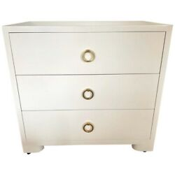 Midcentury Modern Newly Lacquered White Cabinet Dresser Chest Of Drawers