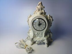 Rare Mid Century Electric Mantle Clock Self Starting Clock Movement By Lanshire