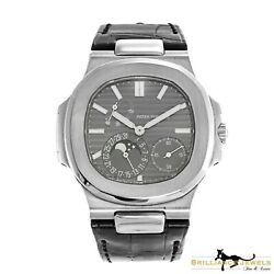 New Patek Philippe Nautilus 5712G-001 in White Gold Leather Strap Watch (GP-23)