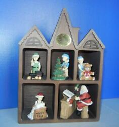 Vtg House Of Lloyd Christmas Around The World St Nickandrsquos Collector Shop Music Box