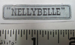 Replacement Water Slide Decal For Ideal Roy Rogers Nellybelle Jeep