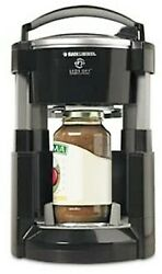 Black And Decker Jw200b Lids Off Automatic Jar Opener / Rare - Black And Silver