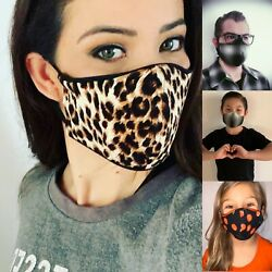 Fashion Protective Face Mask W.Filter Washable Reusable WomenMenYouthChildren