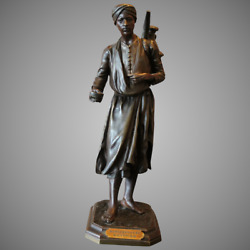 Antique Middle Eastern Bronze Sculpture By A. Bofill - Free Worldwide Shipping