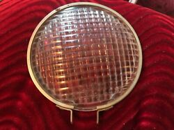 """Vintage Guide Tractor Lens 5932150 4-3/4"""" Ribbed Glass Light"""