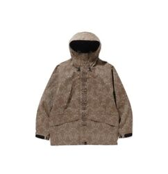 100 Authentic Bape X Coach Snowboard Jacket Brown Xl Limited Edition Sold Out
