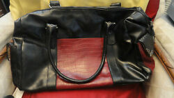 BUENO BIG HAND TRAVEL WOMEN BAG ITALIAN LEATHER 22 quot; X 13 quot; $22.00