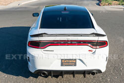 Srt Factory Style Rear Bumper Dual Exhaust Diffuser For 15-up Dodge Charger