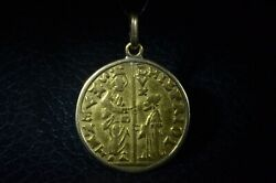 Ancient Medieval Italian Gold Coin Pendant