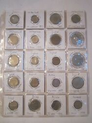 20 Coins In Sleeves - France England Switzerland Norway More 1971 - 1995 - Lot 2