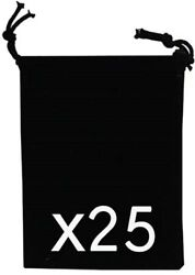 Felt Coin Airtite Capsule Capital Pouches 2x2.5 Black Gift Giving Holders 25 Lot