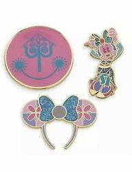 Minnie Mouse Main Attraction Pin Set Small World April Disney Confirmed 4 Pins
