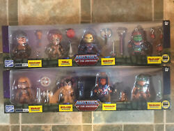 Sdcc Excl Motu Loyal Subjects Both 4 Pack Sets Metallic Masters Of The Universe