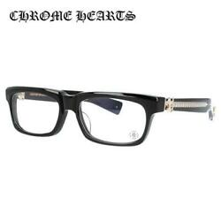 CHROME HEARTS SPLAT-A BK-GP 55 Asian Fit Black Square Glasses Frame