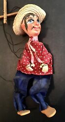 Vintage Mexican Folk Art Hombres Marionette String Puppets Incredible Antique 2