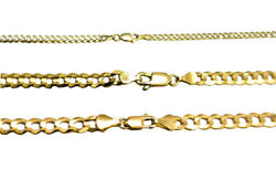 Authentic 14k Solid Yellow Gold Cuban Link Chain Necklace 3.5-5.5mm Size 16-30