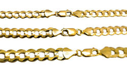 Authentic 14k Solid Yellow Gold Cuban Link Chain Necklace 5.5mm-8mm Size 16-30