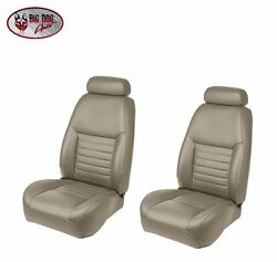 Medium Parchment Front/rear Sport Bucket Seat Upholstery - 2000 Mustang Gt Coupe