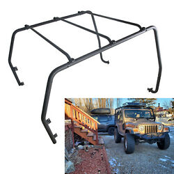 Powder Coated Roof Rack For 97-06 Jeep Wrangler Tj Rubicon Textured Black 76713