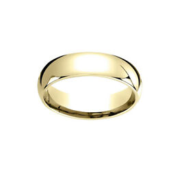 18k Yellow Gold 6mm Slightly Dome Comfort Fit Classic Wedding Band Ring Sz 9