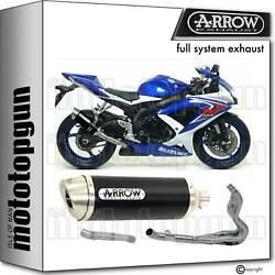 Arrow Hom Nocat Full Exhaust Thunder Black Aluminium Suzuki Gsx-r 600 Ie 08/10