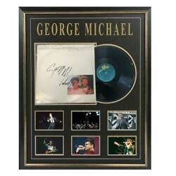 George Michael I Knew You Were Waiting Hand Signed And Framed Album Cover