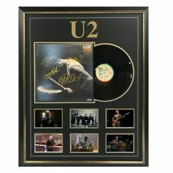 U2 - Desire - Hand Signed And Framed Album Cover Bono The Edge Mullens Clayton
