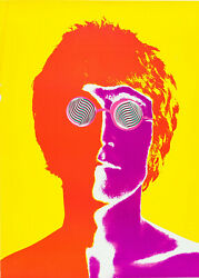 The Beatles - John Lennon Psychedelic Poster 1968 Wall Art Poster