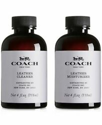 Coach Leather Cleaner And Moisturizer 4oz.118ml Each. Brand New