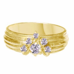 1299 Vintage Style 10k Gold And 1/2 Ct Natural Diamond Antique Ring