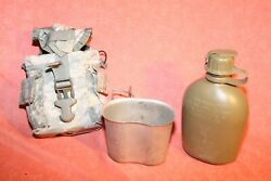 Acu Molle Combo 1 Qt Canteen/ Cup/carrier Dump Pouch-8465-01-314-4282 Used