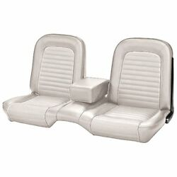 1964-1/2 -1965 Ford Mustang Coupe White Front And Rear Bench Seat Upholstery - Tmi