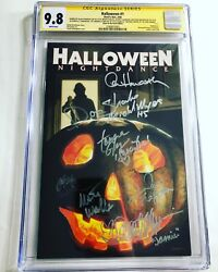 Cgc Ss 9.8 Halloween 1 Variant Signed By 7 Cast Of Halloween 5 Michael Myers