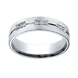0.36 Ct Diamond Sterling Silver 6mm Comfort-fit 18-stone Eternity Ring Sz-11