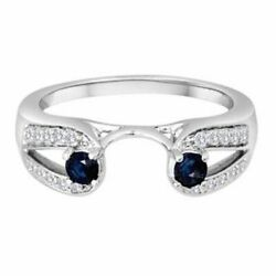 1/5 Ct. Tw. Diamond And Sapphire Ring Wrap In 14k Gold