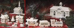 Rare Complete Lenox 9 Pcs Holiday Porcelain Village Issued In 1992 New In Boxes
