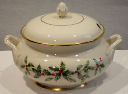 Lenox China Holiday Pattern Dimension Shape Covered Soup Tureen New With Tags
