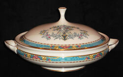 Discontinued Lenox Blue Tree Pattern Rd Covered Vegetable Bowl 9 Diameter New