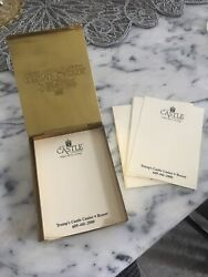 Rare Trump Castle Casino Resort By The Bay Gold Color Finish Note Holder W Notes
