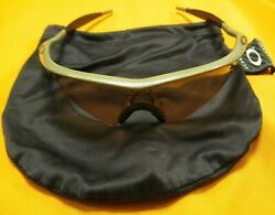 OAKLEY M FRAME PRO SUNGLASSES METALLIC SAND W PERSIMMON SWEEP ROOT BEER NO HINGE $269.99