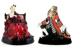 Royal Doulton Proposal Lady And Proposal Man Figures 1925 Harradine Museum Quality