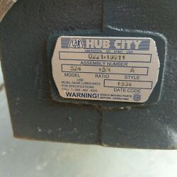 New Hub City Right Angle Speed Gear Reducer Worm  524 / Ratio 151 / Style A