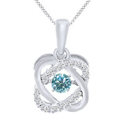 2.75 Ct Light Blue Moissanite Sterling Silver Double Infinity Solitaire Pendant
