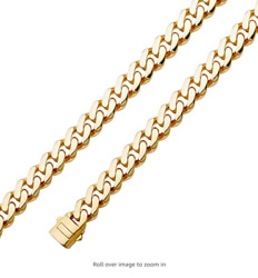 Solid 14k Yellow Gold 9.5 Mm Cuban Chain Monaco Necklace Or Bracelet 8.5- 28