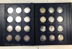 Franklin Mint 36 Silver Coin Booklet. Andldquothe Legacy Of John Fitzgerald Kennedyandrdquo