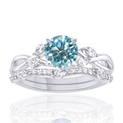 3 Ct Light Blue Moissanite Sterling Silver Solitaire Engagement Ring Bridal