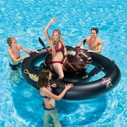 Swimming Pool Bull Ride Float Inflatable Backyard Family Summer Sun Water Play