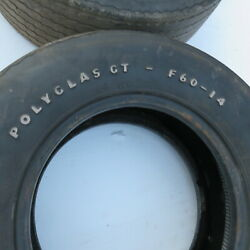 Mopar Ford Chevy Goodyear Wht Letter Polyglass F- 60 14 Oem Tires W/ Nos Fit